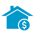 Image silhouette of a house and dollar sign