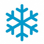 Image silhouette of a snowflake